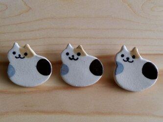 もっちり猫ブローチ(三毛)の画像