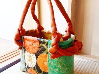 """一閑張りバッグ  """"美しい花模様""""の画像"""