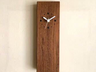 掛け時計 縦型 チークの画像