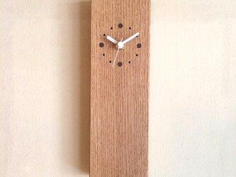 掛け時計 縦型 タモの画像