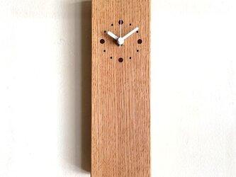 掛け時計 縦型 オークの画像