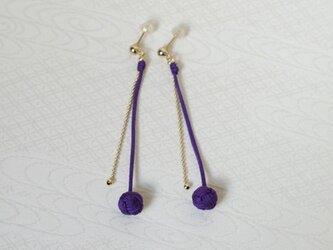 たまものピアス/イヤリング・青紫の画像