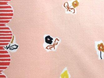 オーガニックコットンカットクロス-ウォークサイドフラワー-ピンク約110X25cmの画像
