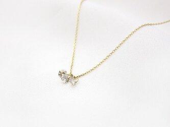【再制作】シンデレラ ダイヤ0.2ct 3pネックレス K18/K10の画像