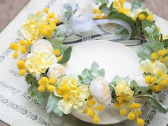 幸せの黄色い花冠☆ミモザの画像