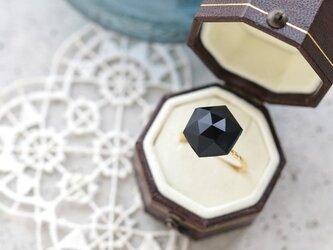 フランス製アンティーク・カボションのリング(ヘキサゴン)の画像