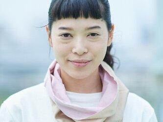 てぬぐい Oo[ワオ]  Pink × Beige 【Sサイズ】の画像