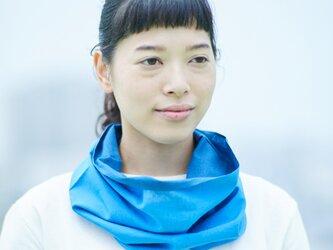てぬぐい Oo[ワオ]  Blue × Blue 【Sサイズ】の画像