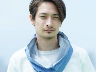 てぬぐい Oo[ワオ]  Blue × Gray 【Lサイズ】の画像