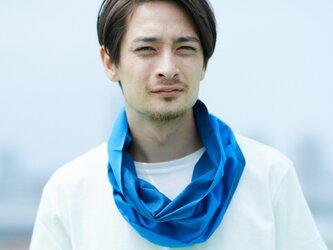 てぬぐい Oo[ワオ]  Blue × Blue 【Lサイズ】の画像