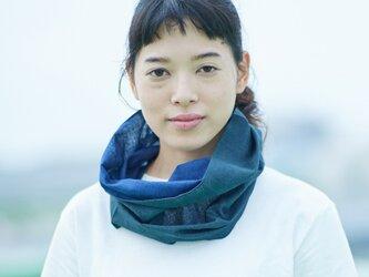 てぬぐい Oo[ワオ] Blue × Green【Sサイズ】の画像