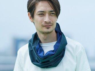 てぬぐい Oo[ワオ]  Blue × Green【Lサイズ】の画像