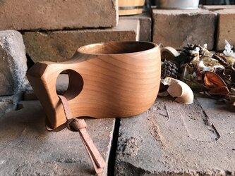 木製マグカップ 『桂』ククサ 内面漆仕上 his-160 北欧の画像