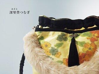 2WAYバッグ<いにしえの紬 みさと>【1点もの】の画像