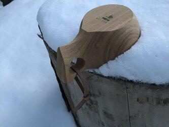 木製マグカップ 『タモ』ククサ 内面漆仕上げ his-152 北欧の画像
