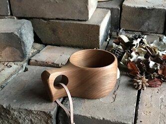 木製マグカップ 『桂』ククサ 内面漆仕上 his-150 北欧の画像