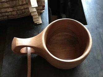 木製マグカップ 『桂』ククサ 内面漆仕上 his-147 北欧の画像