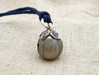 鈴『丸茄子』・小 銀製(シルバー925)の画像
