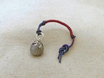 銀製の鈴 『 丸茄子 』 (シルバー925) 根付・帯飾りの画像