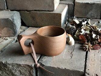 木製マグカップ 『桂』ククサ 内面漆仕上 his-144 北欧の画像