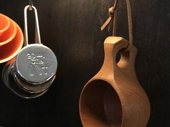 木製マグカップ 『桂』ククサ 内面漆仕上 his-143 北欧の画像