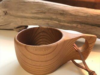 木製マグカップ 『ケヤキ』ククサ 内面漆仕上げ his-141 北欧の画像