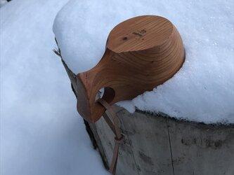 木製マグカップ 『ケヤキ』ククサ 内面漆仕上げ his-140 北欧の画像