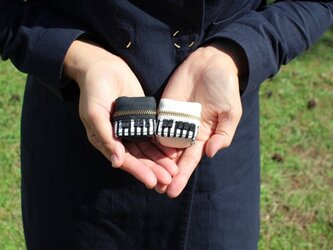 2個セット ピアノ飴ちゃん入れバッグチャームの画像