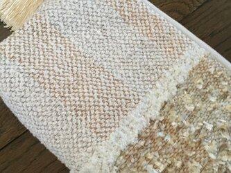 手織り大人なポーチの画像