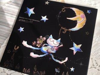 飾りタイル・猫のエミリー〜月のリフトで迎えにいくよの画像