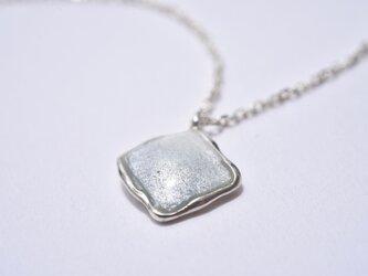 七宝ネックレス-ニュアンスカラー○グレー /silver925の画像