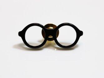 メガネラぺルピン(丸メガネ、Sサイズ、長針、黒)の画像