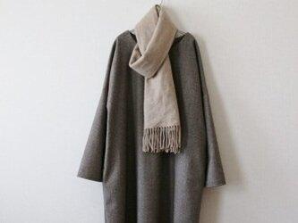 秋冬 シンプルなデザインのワンピース   カシミヤ混ウール  サイズ展開有の画像