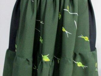 送料無料 花柄の着物で作ったミニスカート 3260の画像