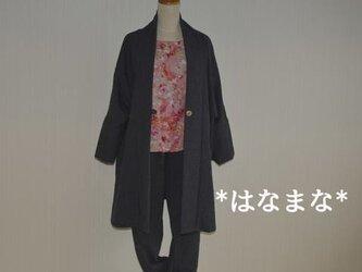 受注製作 軽くて暖か ウールのさっと羽織れるショールコートの画像