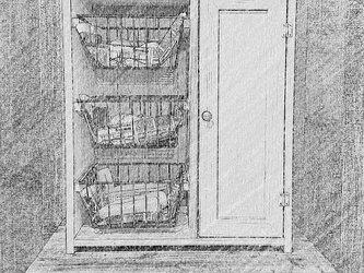 ワイヤーバスケットのシェルフ(アイリスオーヤマCXB-27専用)【受注生産】の画像