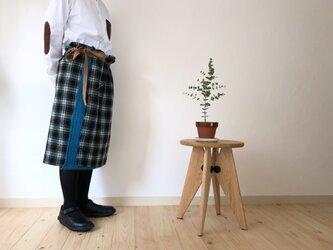 ウールガーゼ巻きスカート & ストール リバーシブル ... 14の画像