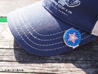 ゴルフマーカー(星・ブルー&ピンク)の画像