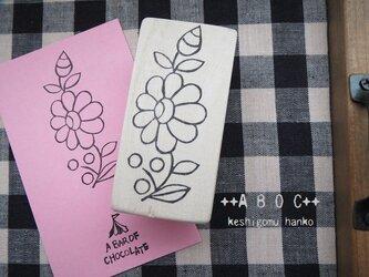 刺繍図案はんこお花_05の画像
