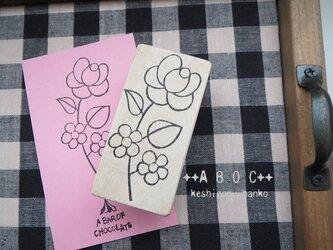 刺繍図案はんこローズ_03の画像