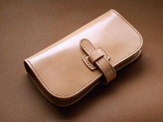 本革サドルレザーの谷型長財布【受注製作】の画像