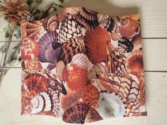 びっしり貝殻のブックカバー(裏朱)の画像