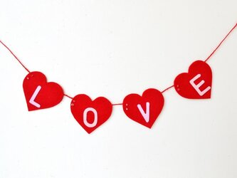 スワロフスキービーズが付いたハートガーランド★結婚式・結婚前撮り写真用・バレンタインに♪の画像