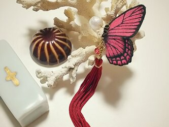 蝶のピアス 小 (モルフォ)の画像