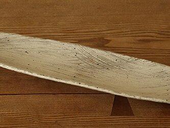 粉引 刷毛目長皿の画像