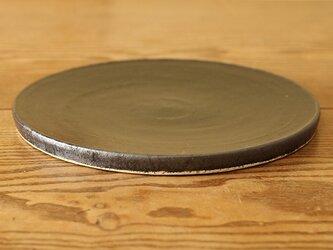 黒釉 台皿 -大-の画像