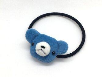 テディベアのヘアゴム(ブルー)の画像