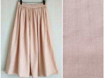 Wガーゼ(淡ピンク) ロングスカートの画像
