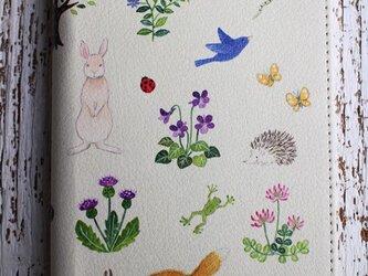 パスポートケース「野の花と生きもの」(受注生産)の画像