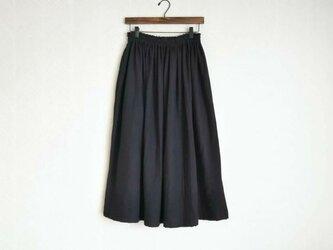 Wガーゼ(ブラック) ロングスカートの画像